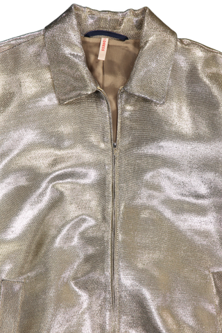Erinn Lurex Bomber Jacket Gold