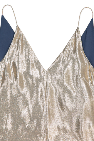 Esther Lurex Tank Top Gold