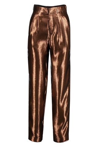 Front Image Of Indress Silk Lurex Pant Chocolate