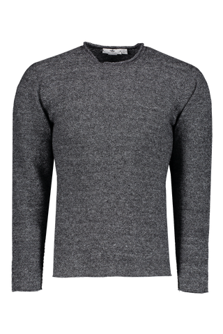 Front Image Of Low Mock Neck Tunic Sweater Stone
