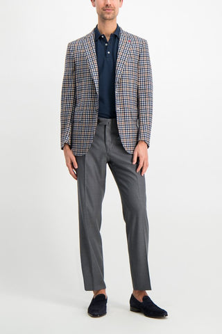 Full Body Image of Model Wearing Isaia Cashier Sciammeria Sportcoat