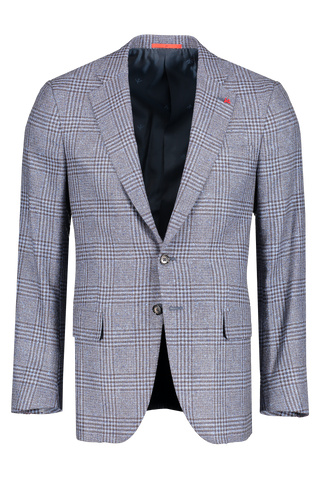 Isaia Front Image Donegal Boucle Glen Plaid Sportcoat
