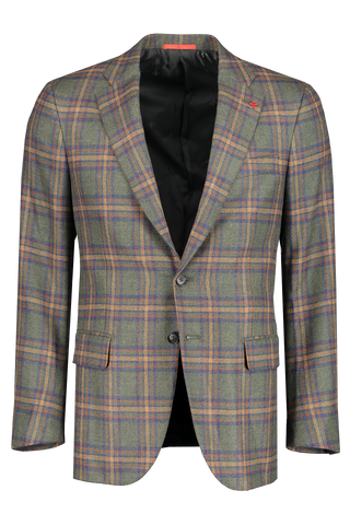 Front image of Isaia Giacca Plaid Sportcoat