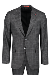 Front Image of Isaia Grey Luxury Linen Suit