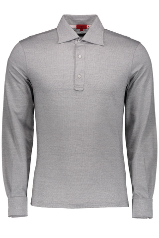 Long Sleeve Polo Grey