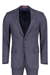 Front view image of Isaia Navy Silky Linen Suit