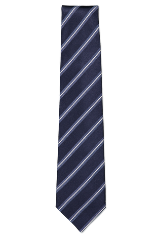 Navy Stripe Neck Tie