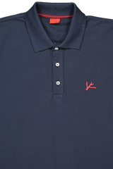 Navy With Red Coral Logo Polo