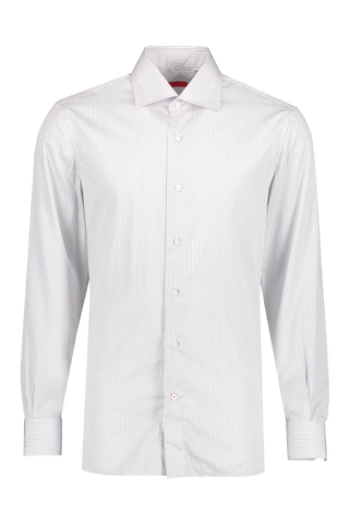 Front image of Isaia Pellovo Thin Stripe Shirt