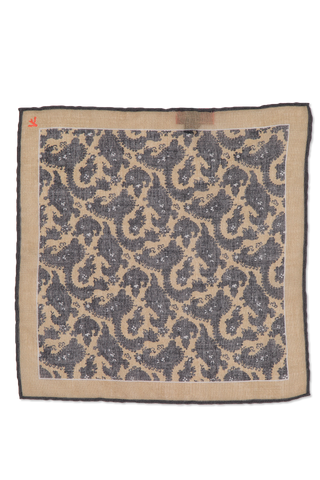 Pocket Sqaure Tan Floral