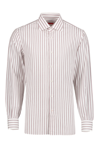 Front view image of Isaia Reddish Stripe Dress Shirt