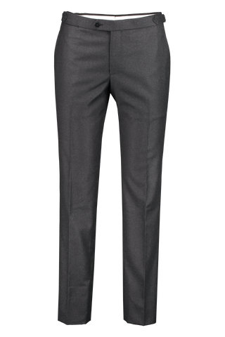 Front view image of Isaia Royal Flannel Trouser with Sidetabs