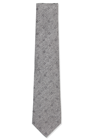 Front view image of Isaia Silver Medallion Tie