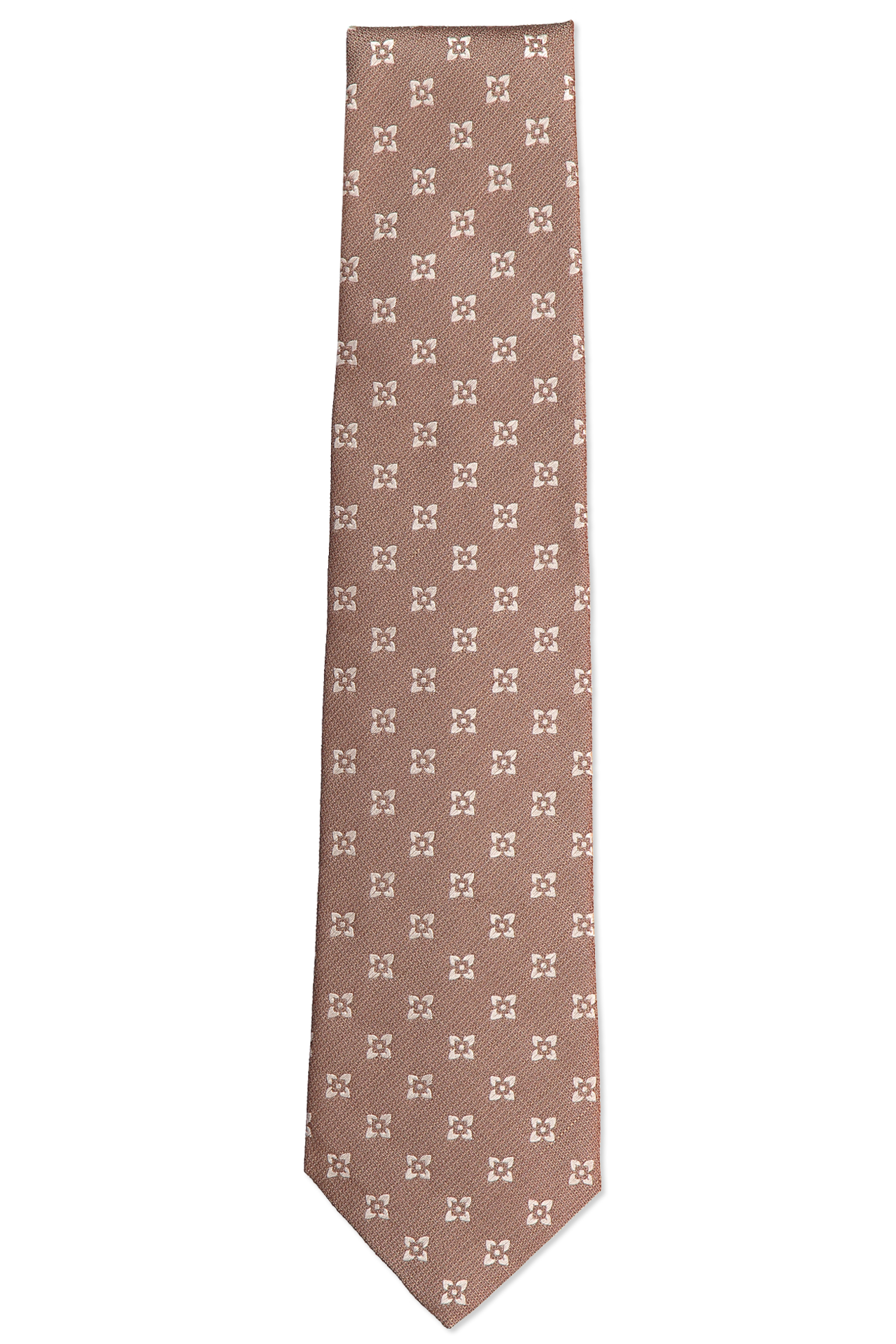 Tan Medallion Neck Tie