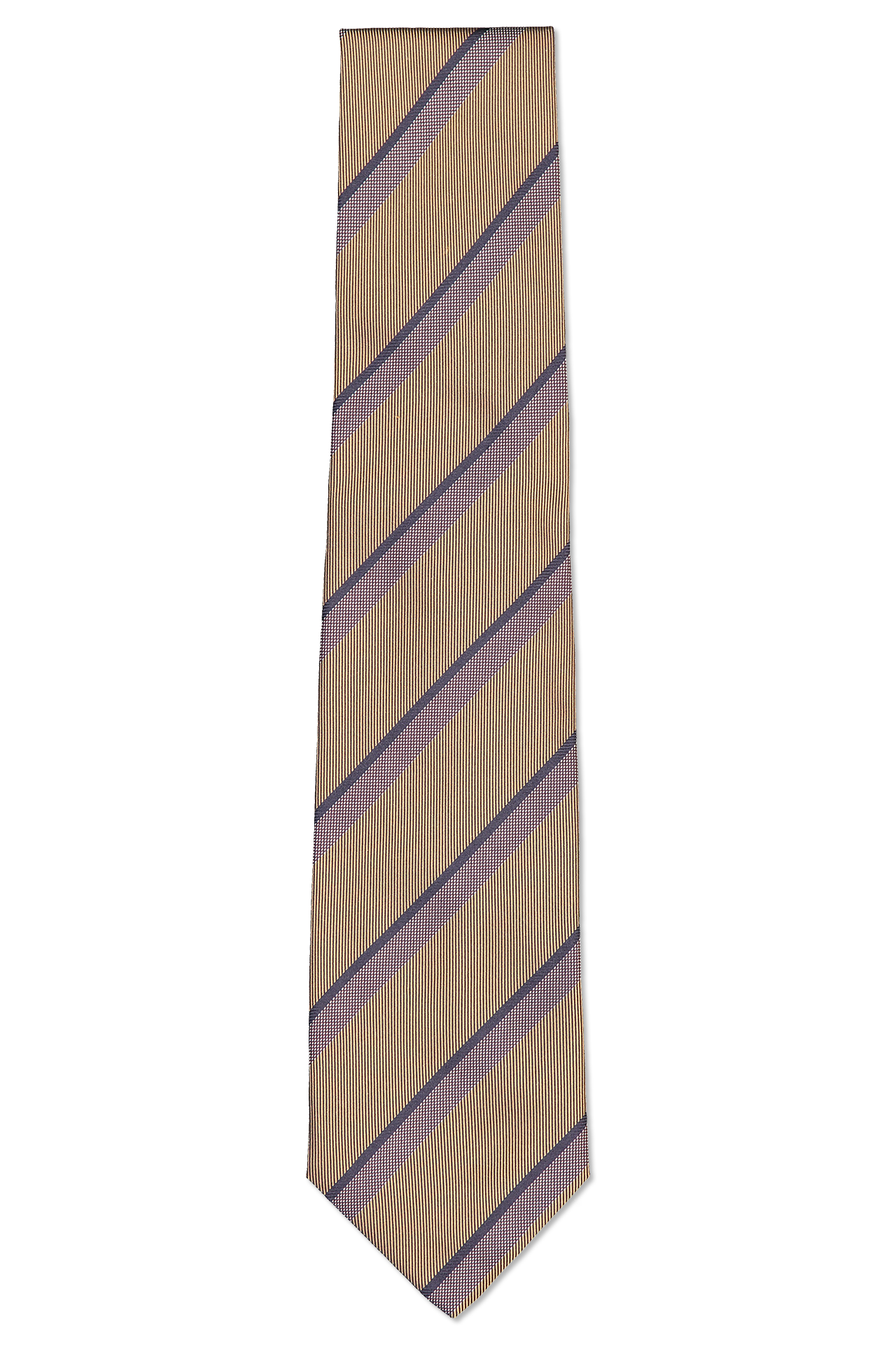 Front image of Isaia Tie Mauve Stripe