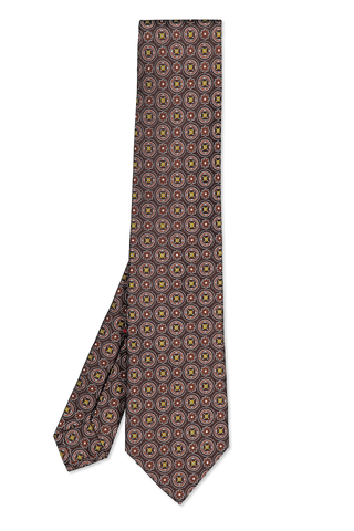 Isaia Tie Brown Yellow