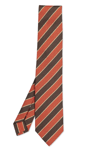 Isaia Tie Rust Brown