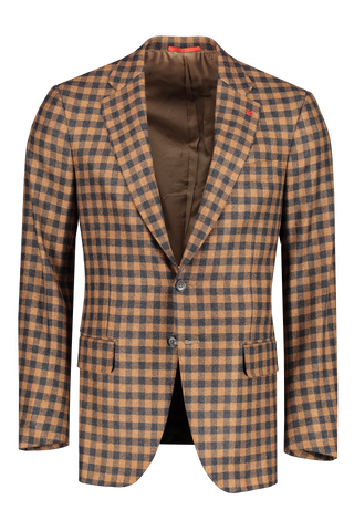 Front image of Isaia Top China Check Sportcoat