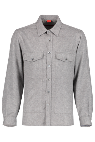 Wool Cashmere Overshirt Grey