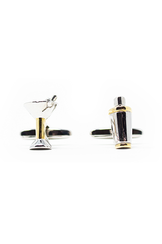Martini And Shaker Cufflinks