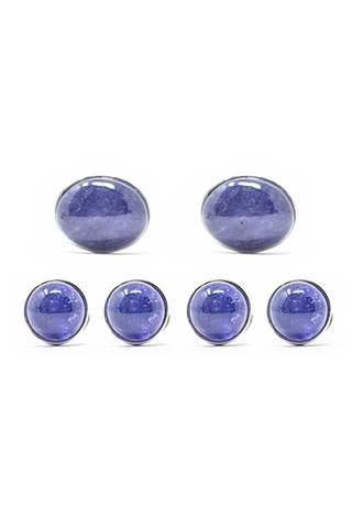 Oval Tanzanite Cufflinks and Studs