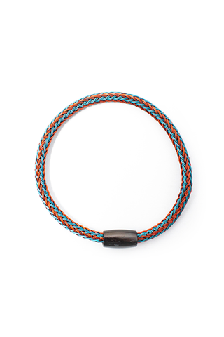 Aerial View Turquoise And Red Cable Bracelet