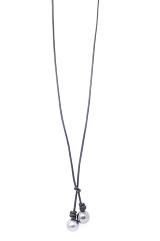 Front image of John Varvatos Lariat Necklace With Tahitian Pearls