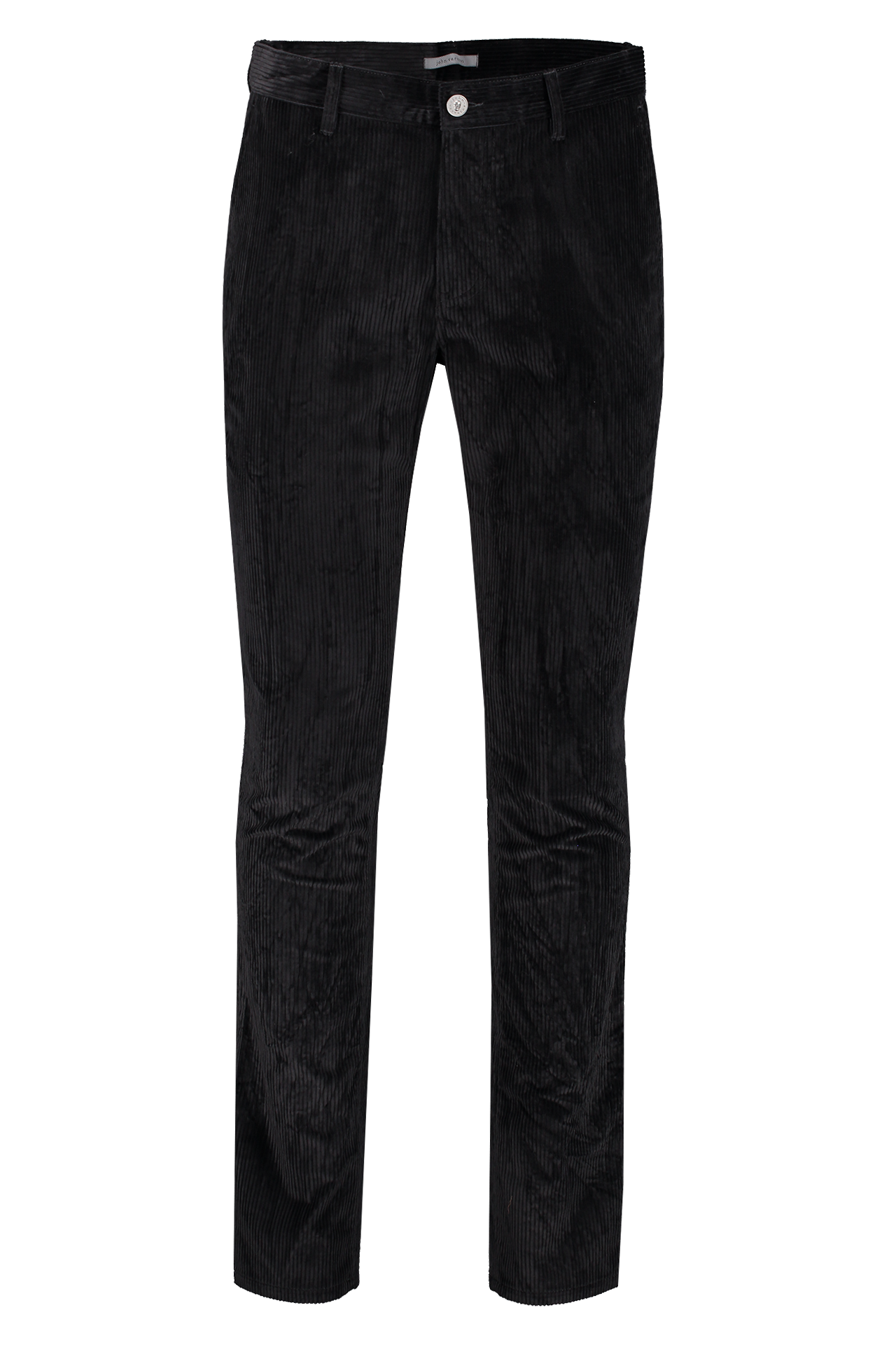 Front view image of John Varvatos Men's Motor City Jean with Zip Fly Black