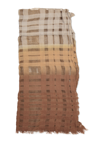 OMBRE SPRAY DYE SCARF COPPER