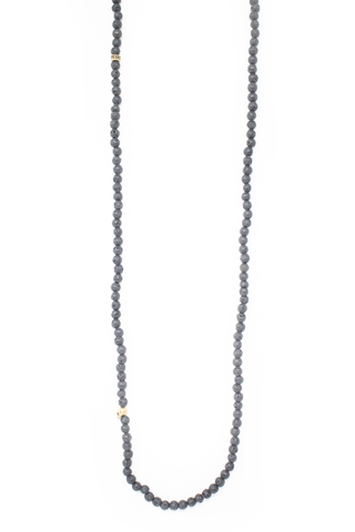 Front image of John Varvatos Skull Beaded Necklace