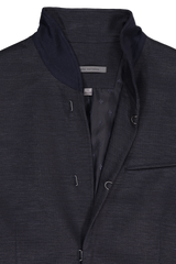 Slim Fit Stand Up Wire Shawl Collar Jacket