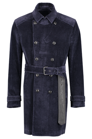 Slim Fit Trench Coat Navy