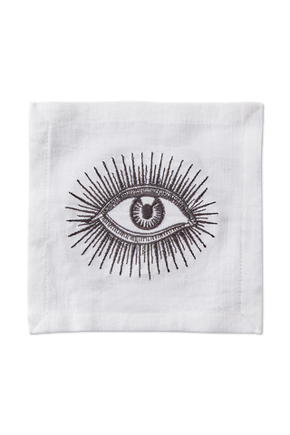 Front Image Cocktail Napkin Eyes