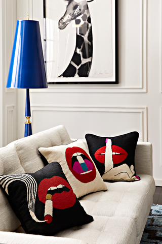 Lifestyle Image with Kit Lips NDLPT Pillow