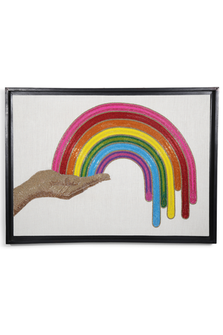 Jonathan Adler Front Image Rainbow Hand Beaded Wall Art