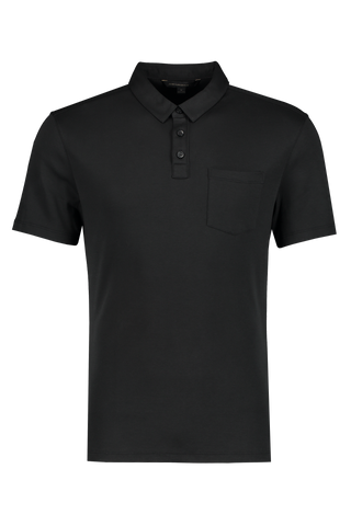 Front Image Of JV Star USA Burlington Classic Fit Polo Black