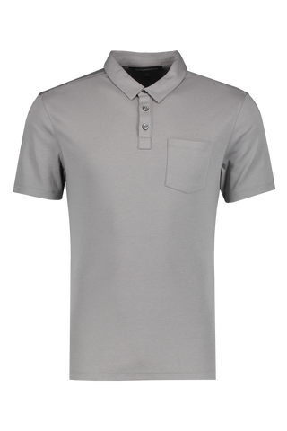 Front Image Of JV Star USA Burlington Classic Fit Polo Stone Grey