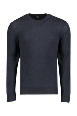 Front view image of JV Star USA Men's Bristol Mercerized Crackle Stitch Crew