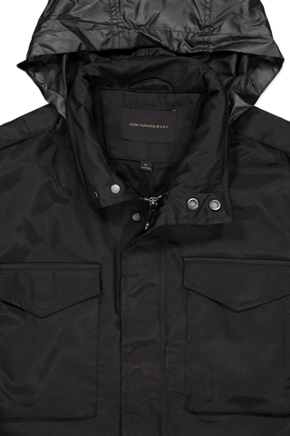 Front hood and zipper detail image of J.V. Star USA Connor Field Jacket