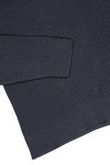 Hemline and cuff detail image of Davidson Mercerized Waffle Crew