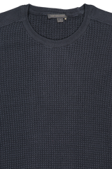 Front collar view image of Davidson Mercerized Waffle Crew