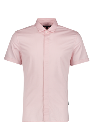 Front Image Of JV Star USA Loren Slim Fit Short Sleeve Shirt Pink Haze
