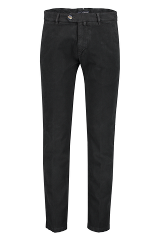 Front view image of JW Brine James 18 Cotton Chino Black