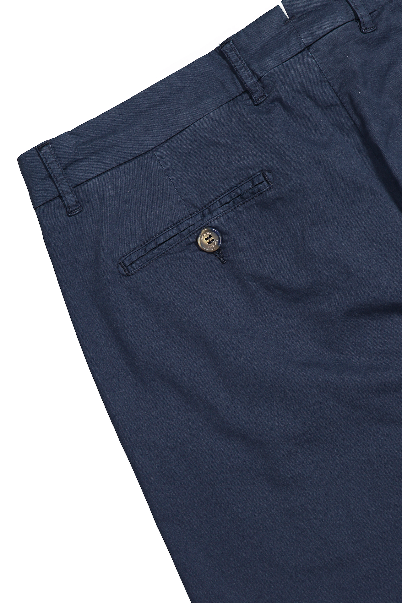 Back Pocket Image of JW Brine James 18 Cotton Mix Chino Trouser