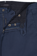 Zipper Detail Image of JW Brine James 18 Cotton Mix Chino Trouser
