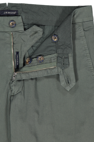 Zipper Image of JW Brine James 18 Cotton Mix Chino Trouser