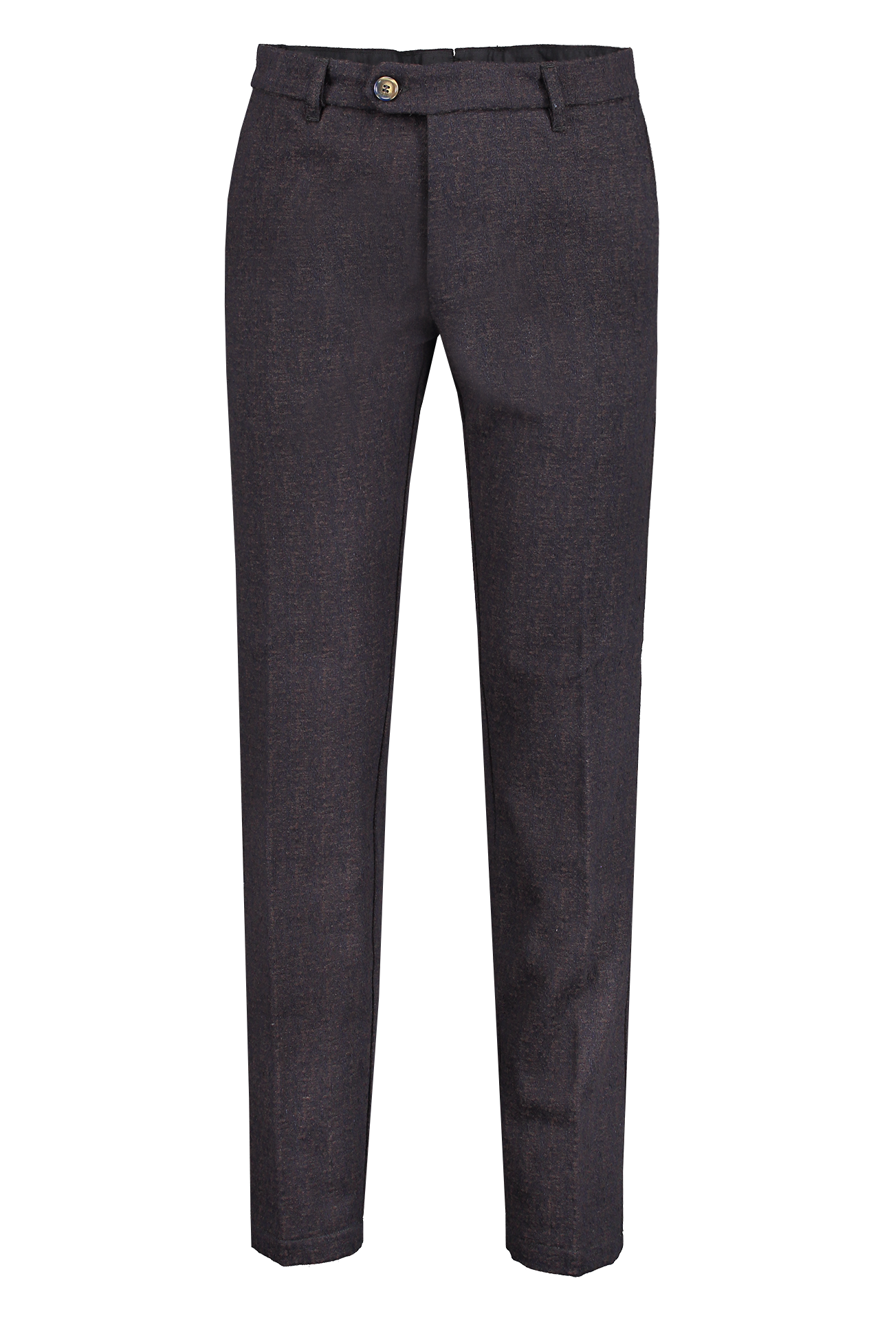 Front view image of JW Brine Men's James 18 Cotton/Wool Chino Brown