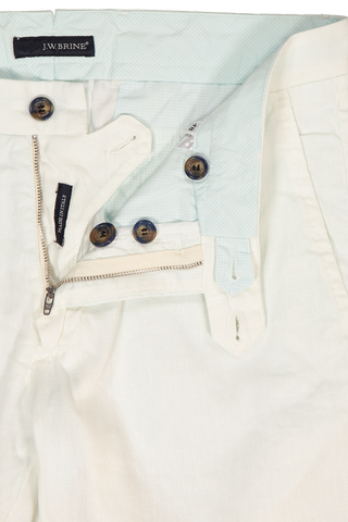Button and Zipper Detail James 18 Linen Mix Chino