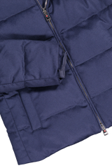 Hemline and sleeve detail image of Kired Bulnes Down Jacket Blue
