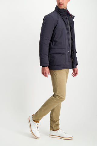 Full Body Image Of Model Wearing Kired Pagma Outerwear Jacket